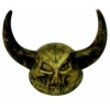 Gold Skull Viking Helmet